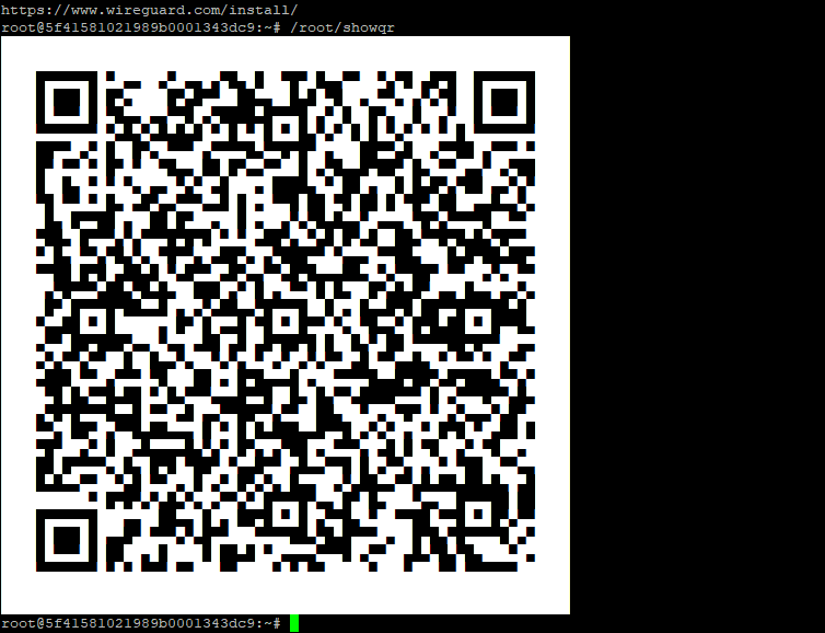 The WireGuard QR code