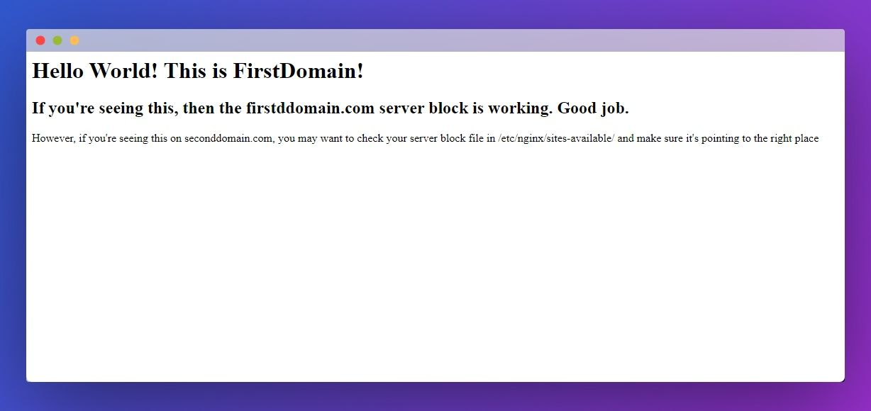 first-domain